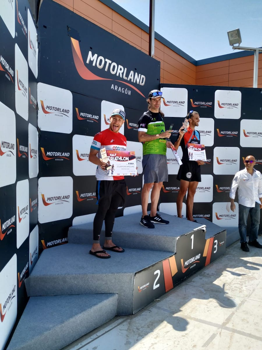 Podio Half Motorland 2019 Juanma Cardenas