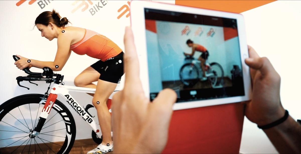 Ivet Farriols iPad estudi biomecànic