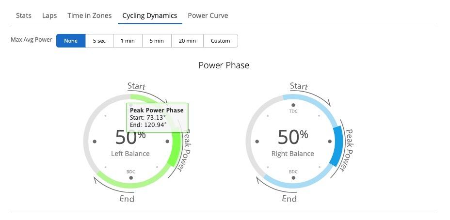 Garmin Connect Fase Pico de Potencia